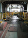 Inside of old bus Stock Images