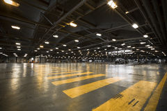 Inside an old bus garage, hall, Royalty Free Stock Photography