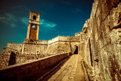 Inside old Byzantine fortress in Corfu - Vintage, Greece Stock Images