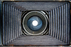 Inside of old camera Royalty Free Stock Images