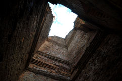 Inside ancient  castle Royalty Free Stock Images
