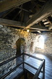 Inside the old castle tower Stock Photography
