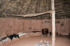 inside old Celtiberian cabins royalty free stock images