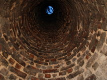 Inside old chimney Royalty Free Stock Photos