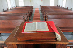 Inside Old Church Royalty Free Stock Photo