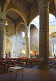Inside of old church Stock Images