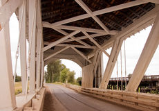 Inside Old Covered Bridge Stock Photography