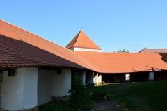 Inside the old fortified church Dirjiu, Transylvania, Romania Stock Photography