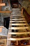 Inside the old fortified church Dirjiu, Transylvania, Romania Royalty Free Stock Image