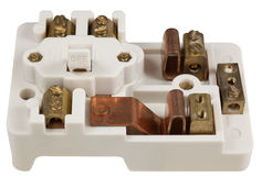 Inside an Old Fuse Box Royalty Free Stock Images