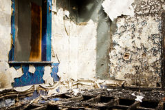 Inside of an old grungy building Stock Photography