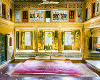 Inside an old Haveli in Mandawa Royalty Free Stock Photography
