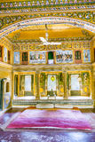 Inside an old Haveli in Mandawa Stock Photos