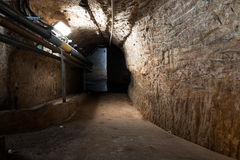 Inside an old industrial building, basement Royalty Free Stock Photography