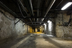 Inside an old industrial building, basement Stock Photo