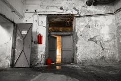 Inside an old industrial building, basement Royalty Free Stock Images