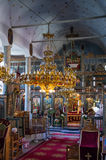 Inside an old orthodox church, in Flabouro village, Florina, Greece Stock Photography