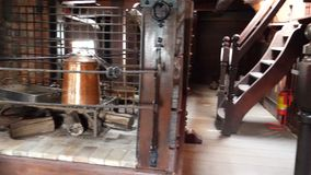 Inside old pirate ship. Interior of old pirate ship, a wooden antique vessel stock video