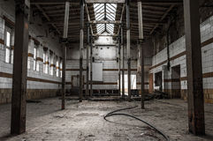 Inside an old slaughterhouse Royalty Free Stock Photos