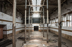 Inside an old slaughterhouse Stock Photo