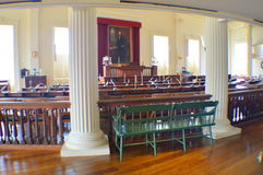 Inside of the Old State Capitol. This photo was taken in Springfield. The Old State Capitol State Historic Site, in Springfield, Illinois, is the fifth capitol Royalty Free Stock Image