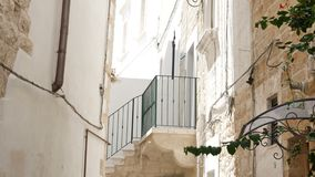 Inside old town of Polignano a Mare, Italy