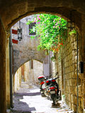 Inside the old town of Rhodes Stock Photos
