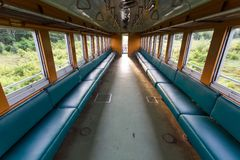 Inside old train Royalty Free Stock Photo