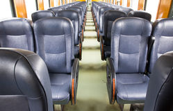 Inside of old train Royalty Free Stock Images