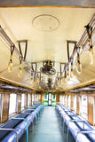 Inside the old train Stock Photography