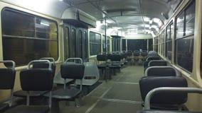 Inside old tram Stock Image