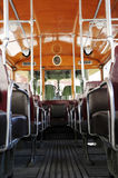 Inside Old  tram in Paris Royalty Free Stock Images