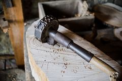 Inside an old vintage blacksmith and workshop Royalty Free Stock Photos