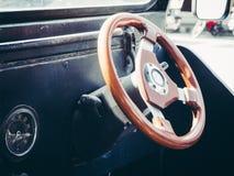 Inside old vintage car. Stock Image