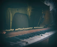 Inside old vintage piano Royalty Free Stock Images
