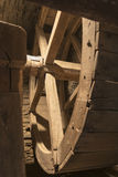 Inside old wheel of a mill Stock Photography