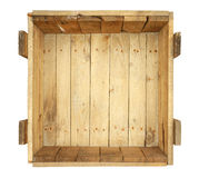 Inside old wooden box Stock Images