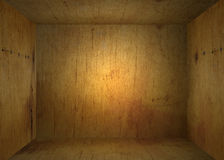 Inside an old wooden box. Looking inside a softly lit wooden box, forming a natural frame royalty free illustration