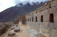 Inside Ollantaytambo ruins Royalty Free Stock Photo