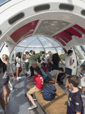 Inside one of the capsules of the London Eye Stock Photos