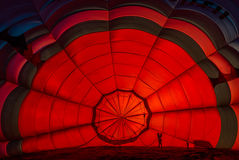 Inside one Hot Air Balloon Royalty Free Stock Images