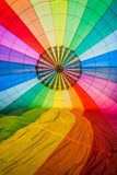 Inside one Hot Air Balloon Royalty Free Stock Photography