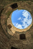 Inside one of the towers of citadel in Akkerman fortress in Belg Royalty Free Stock Images