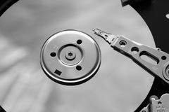 Inside a open HDD royalty free stock photos