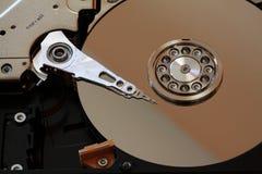 Inside a open HDD stock photos