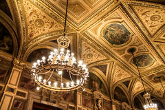 Inside the opera house in Vienna Royalty Free Stock Photos