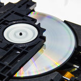 Inside an optical disc drive Royalty Free Stock Photos