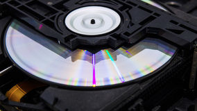 Inside an optical disc drive Stock Photos