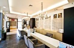 Inside optician shop Stock Image