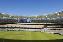 Inside of Optus Stadium in Perth, Australia. The inside view of the new Optus Stadium for Sports and Events. This is located in Perth, Western Australia Stock Photo